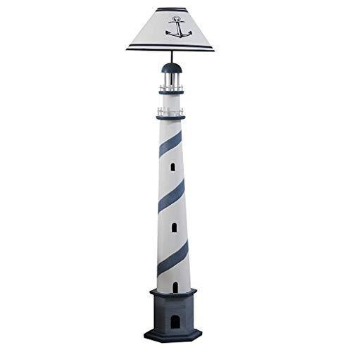 Busirsiz En la sala, hotel, dormitorio, lámpara de pie -Mediterráneo B Ocean Faro Lámpara de dormitorio simple creativo de la lámpara Interruptor Altura 158cm ojo pie