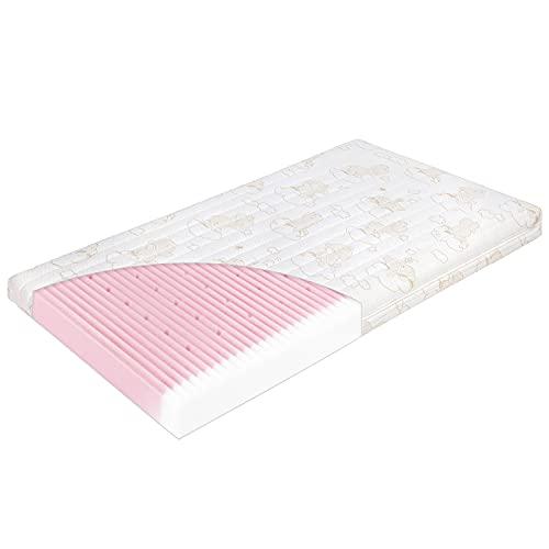 Julius Zöllner Kinderbettmatratze Babymatratze Traumfänger Comfort | 70 x 140 x 9 cm | trittfeste Kanten | abnehmbarer Bezug und waschbar | Allergiker geeignet