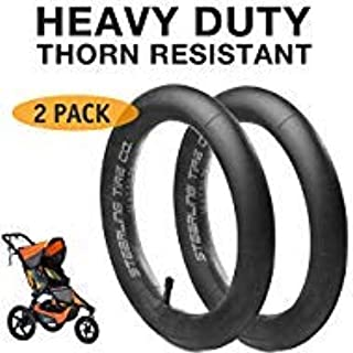 [2-Pack] 16`` x 1.5/1.75 Heavy Duty Thorn Resistant Inner Tire Tube for BOB Revolution SE/Flex/Pro/Sport Utility/Ironman Strollers - The Perfect BOB Stroller Tire Tube Replacement