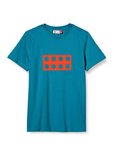 Lego Wear Jungen LWTOBIAS T-Shirt, 768 Dark Turquoise, 134
