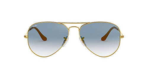 Ray-Ban Unisex Aviator Sunglasses, Gold (Frames: Gold Glass: Course Light...
