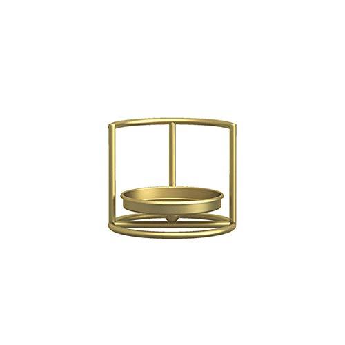 CandleRack- Soporte para candelabros con forma geométrica de hierro forjado de estilo nórdico