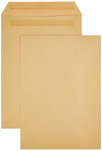 AmazonBasics - Versandtasche, C4 (229x324 mm), selbstklebend, Braun, 90 g/m², 250 Stück