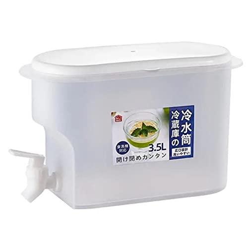 DRXX Jarra de Agua Fría Duradera para Frutas, Jarra de Té Helado de PP de Grado Alimenticio con Grifo, Hervidor de Agua con Infusor de Agua Helada de Verano, Jarra de Bebidas