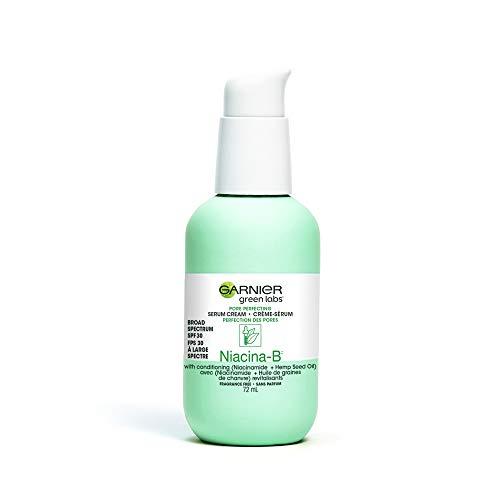 Garnier Pore Perfecting Face Serum Cream with Niacina, 24HR Skin Care Moisturizer + Serum + SPF 30, Green Labs, Vegan…