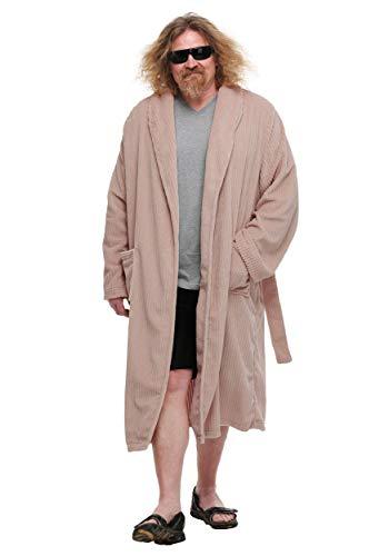 The Dude Bathrobe The Big Lebowski Costume Men's Robe Small Brown