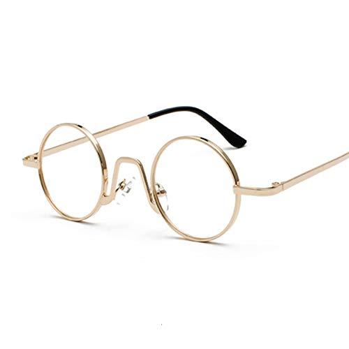 NJJX Gafas De Sol Redondas Vintage Para Mujer, Hombre, Gradiente De Color Caramelo, Gafas De Sol Para Mujer, Hombre, Gafas Al Aire Libre, Fiesta, Goldtrans