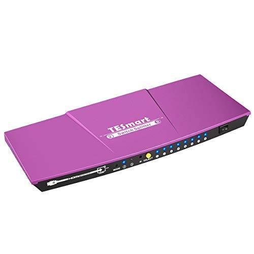 HDMIスイッチ アダプター 2x8 HDMI切替分配器 2入力8出力 HDMI切り替え分配器 4K 30Hz HDMI Switch Splitter 2K 3D映像 HDCP1.3 EDID認識対応 XBOX360 HDTV STB DVD プロジェク