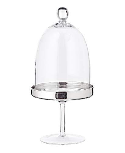 EDZARD Bomboniera, szklanka na cukierki, wysokość 32 cm, dmuchane szkło kryształowe z platynową krawędzią, puszka szklana z pokrywką
