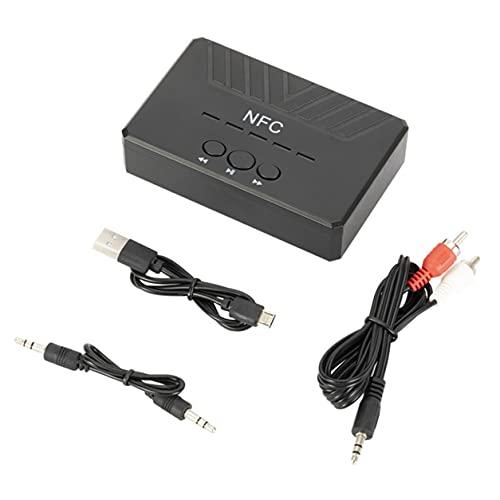 StrongAn Adaptador Inalámbrico Interfaz 3G Módulo Inalámbrico Receptor AUX Adaptador De Cable para Radio Estéreo Coche Entrada De Audio Inalámbrica A2DP - Negro 105x65x25Mm