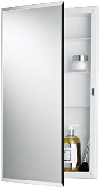 Jensen 781061 Builder Series Frameless Medicine Cabinet With Beveled Edge Mirror 16 Inch By 26 Inch By 3 3 4 Inch