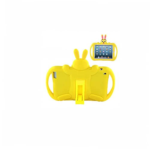 YepYes Funda Protectora de Trabajo Pesado de Dibujos Animados Compatible con iPad 2 3 4 niños Silicone Suave Tableta Trasera Cubierta Protectora Amarillo