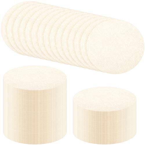 Wiederverwendbare Ersatz-Papierfilter aus ungebleichtem Papier, Kaffeefilter, rund, kompatibel mit Aerobie Aeropress Kaffee und Espressomaschinen (500 Stück)