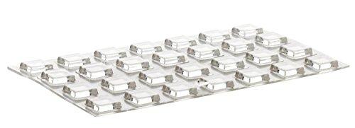 Home Xpert 28 Stück Schutzpuffer CLEAR Quadrat Anschlagpuffer transparent selbstklebend 10,0 x 10,0 mm, Höhe: 2,5 mm