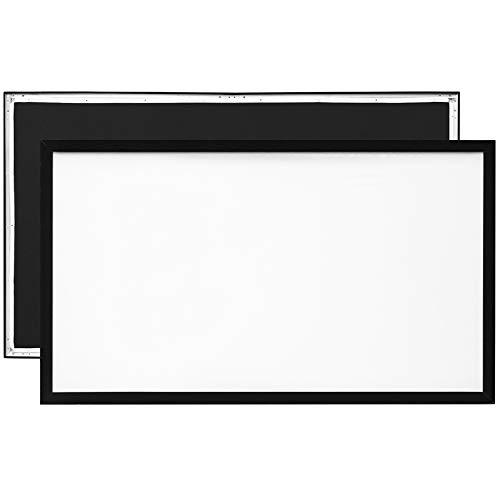 VEVOR Beamer Leinwand 215 x 126 cm, Projektion Leinwand Diagonale Größe 234 cm, Leinwand Deckenmontage aus PVC, Weiße Projektionsfläche mit Blickwinkel von 160°, für Outdoor-Aktivitäten