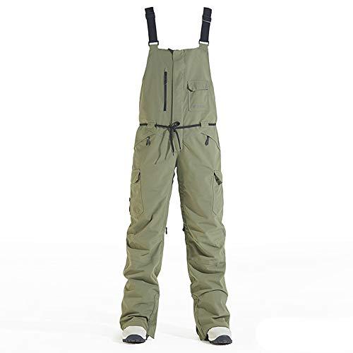 CYHW Skibroek, slabbetjes, warm en winddicht, waterdicht, voor outdoor, sneeuw, warme broek C