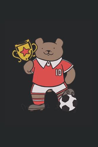 Fußballbär - Bär mit Trikot: Din A5 Bär mit Trikot Notizbuch Fußball Club Geschenk mit 120 Seiten