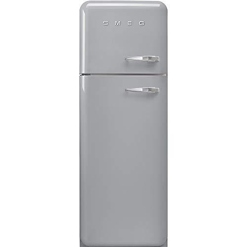 Smeg FAB30LSV3 Kühl-Gefrier-Kombination, freistehend, Silber, 294 l, A+++ – Kühl-Gefrier-Kombination (294 l, SN-T, 4 kg/24 h, A+++, neue Fläche, Silber)