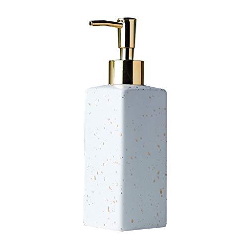 Dispensador de Jabón Jabón de cerámica dispensador de la loción del fregadero de cocina encimera líquido dispensador de la bomba con el cabezal de la bomba chapado en oro de cerámica simple dispensado