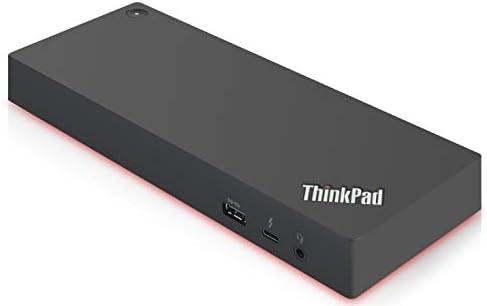 Lenovo USA ThinkPad Thunderbolt 3 Dock Gen 2 135W (40AN0135US) Dual UHD 4K Display Capability, 2 HDMI, 2 DP, USB-C, USB 3.1, Black
