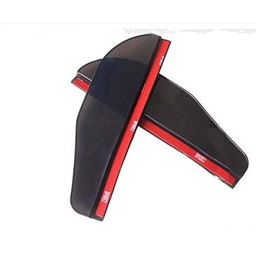 wenzerto 2 unids Coche retrovisor Espejo Lluvia Pegatinas de Cejas Accesorios para Mazda 6 BMW R1200GS Mercedes Cla for Opel Zafira B para Renault Trafic (Color : Black)