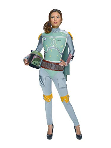 Rubie's Women's Star Wars Boba Fett Deluxe Costume Jumpsuit, Multi, X-Small