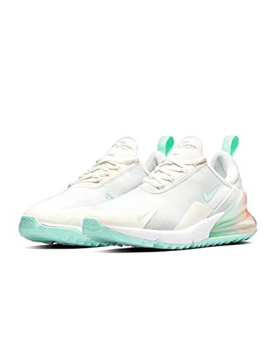 Nike Air MAX 270 G Zapatillas de Golf para Hombre (Sail/Light Dew-Crimson Tint, Numeric_40)