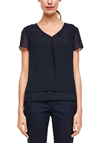 s.Oliver BLACK LABEL Damen 01.899.12.5102 Bluse, Navy, 38