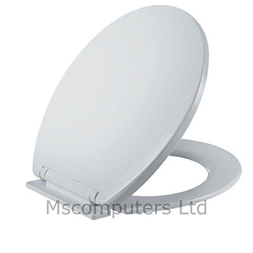 K-One White Soft Close Toilet Seat New Slow Close Polypropylene 425 x 355mm