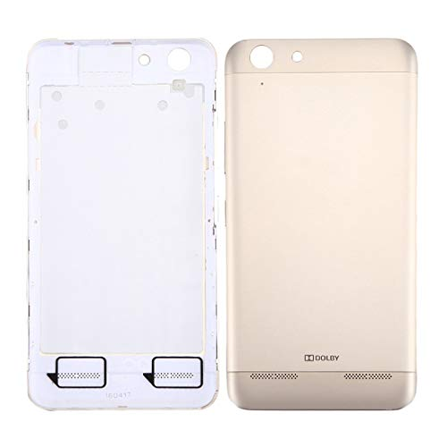 Dmtrab For Lenovo Vibe K5 / A6020 Battery Back Cover(Grey) Repair Parts Back Cover (Color : Gold)