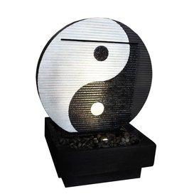 Garten Brunnen Wasserspiel »Yin & Yang« aus Fiberglasbeton