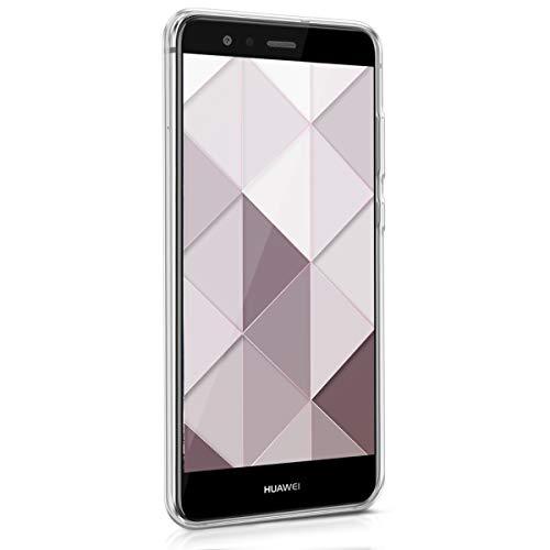 kwmobile Huawei P10 Lite Hülle - Handyhülle für Huawei P10 Lite - Handy Case in Glory Dreieck Muster Design Rosa Rosegold Weiß - 2