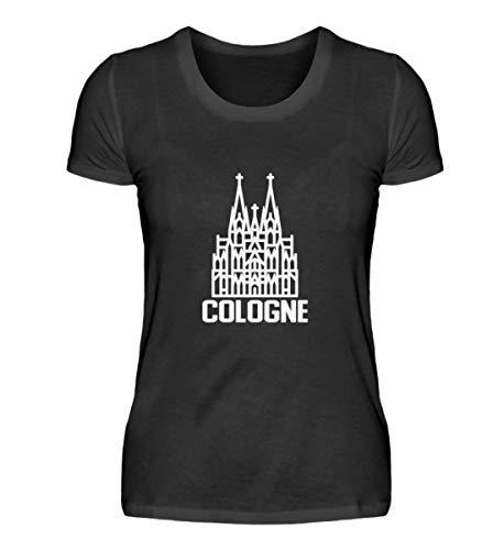 Kölner Dom Cologne T-shirt pour femme - Noir - XL