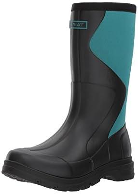 Ariat Women's Springfield Rubber Work Boot, Black, 11 B US