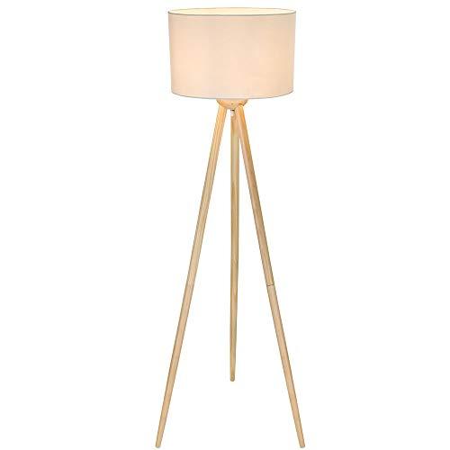 Globo vloerlamp EEK: E-A++ Gregor hout-witArt.nr. 2144442