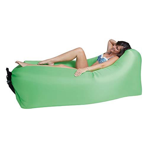 Lounger To Go Air 2.0 Liegesack Sitzsack Luft Sofa Lounge Luftcouch Sessel aufblasbar Grün