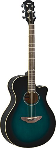 Yamaha APX600 OBB Thin Body Acoustic-Electric Guitar, Oriental Blue Burst