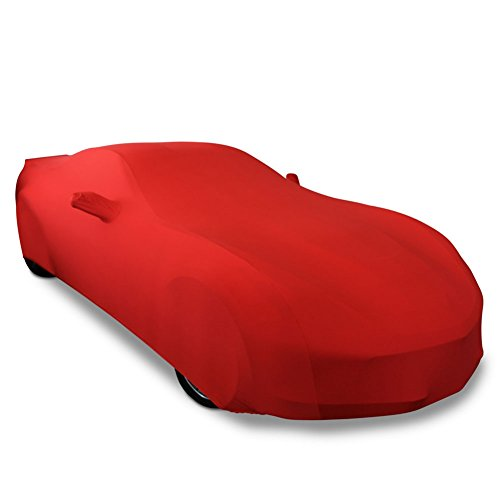 2014-2019 C7 Stingray, Z51, Z06, Grand Sport Corvette Ultraguard Stretch Satin Indoor Car Cover (Red)