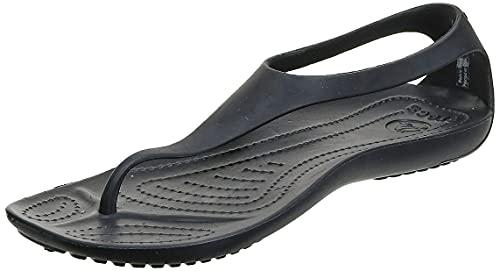 Crocs Sexi Flips | Sandals for Women, Black/Black, 4