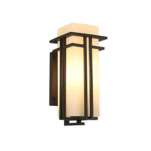 Wmdtr Simple Chinese Style Outdoor Indoor Wall Lamp Aluminum+Acrylic Wall Light,Black LED Waterproof Creative Sconces for Villa Corridor Garage Patio