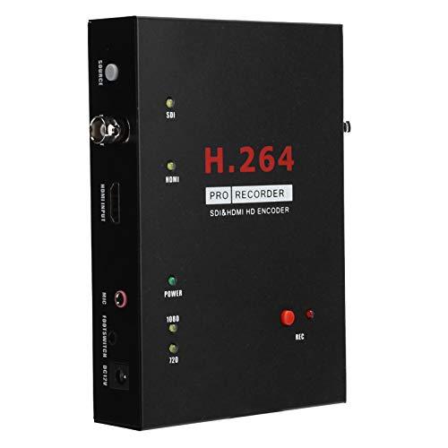 Tarjeta de Captura de Video, Grabador de Captura de Video HD Transmisión en Vivo con Control Remoto para cámara, decodificador, TV de Alta definición, Juegos, Enchufe de la UE de 100‑240 V