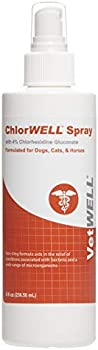 VetWELL Chlorhexidine 4% Spray for Dogs, Cats and Horses