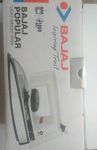 Bajaj Popular 1000 W Dry Iron (White)