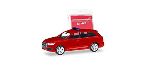 herpa 013536 Audi Die neutrale Feuerwehr-Serie neuen Einsatzleitwagen mit entsprechender Beschriftung ergänzt. Parallel hierzu erscheint das Modell auch als Minikit in Rot, farbig