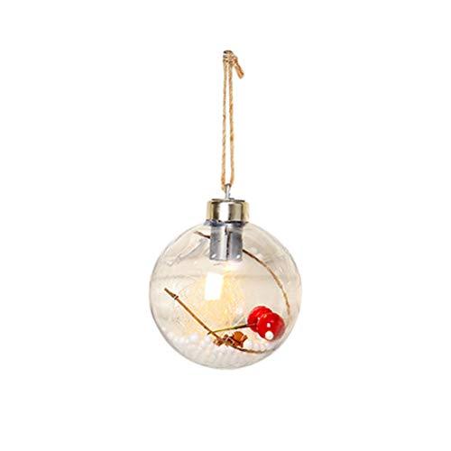 Surenhap - Bolas de Navidad con luz LED, diseño de árbol de Navidad