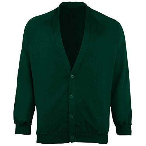 Islander Fashions Jongens Lange Mouw School Uniform Knop Vest Mens Open Voorvak Vest