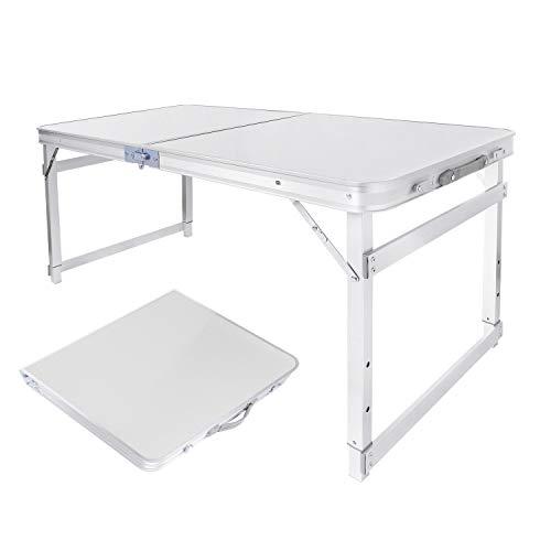 Mesa de camping picnic altura ajustable mesa plegable de exterior portátil aleación de aluminio mesa de viaje, barbacoa senderismo mesa de comedor para casa jardín balcón 120x60x70cm