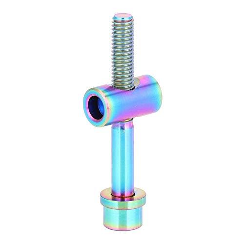 VGEBY1 Tornillo de tija de sillín de Bicicleta, Aleación de Titanio Sillines de Bicicleta Pernos de vástago Fijo Accesorio de Ciclismo(M5x30-Color magico)