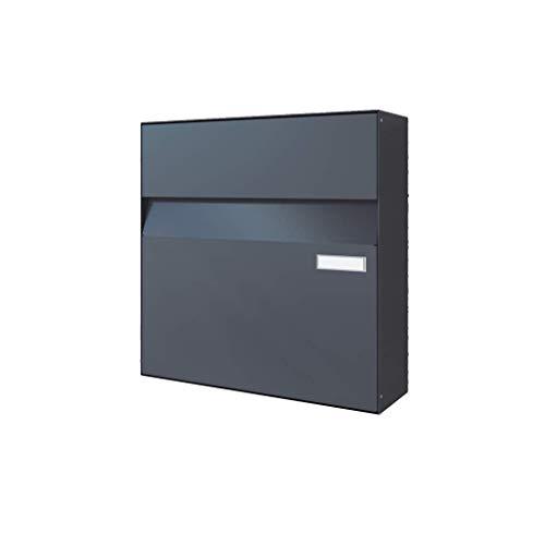 Briefkasten groß Aufputz Unterputz XXL (Anthrazit (RAL7016))