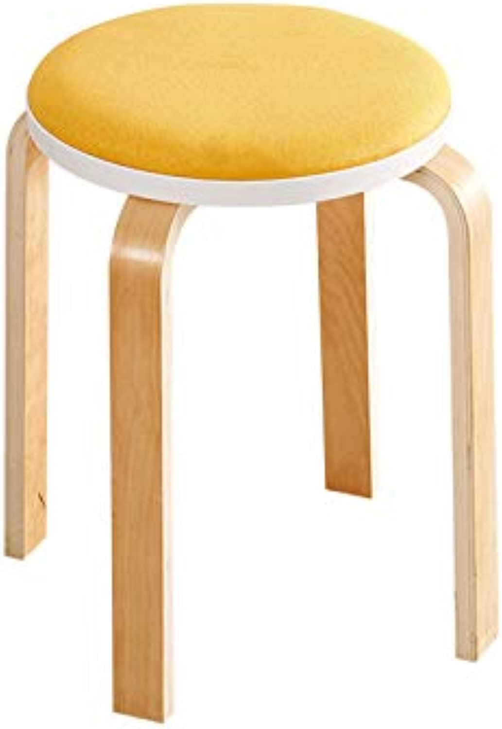 Small Bench Fashion Fabric Yellow Multi-Function Chair High Stool Dressing Stool Living Room Dining Room Bench (color   A, Size   45x32cm)